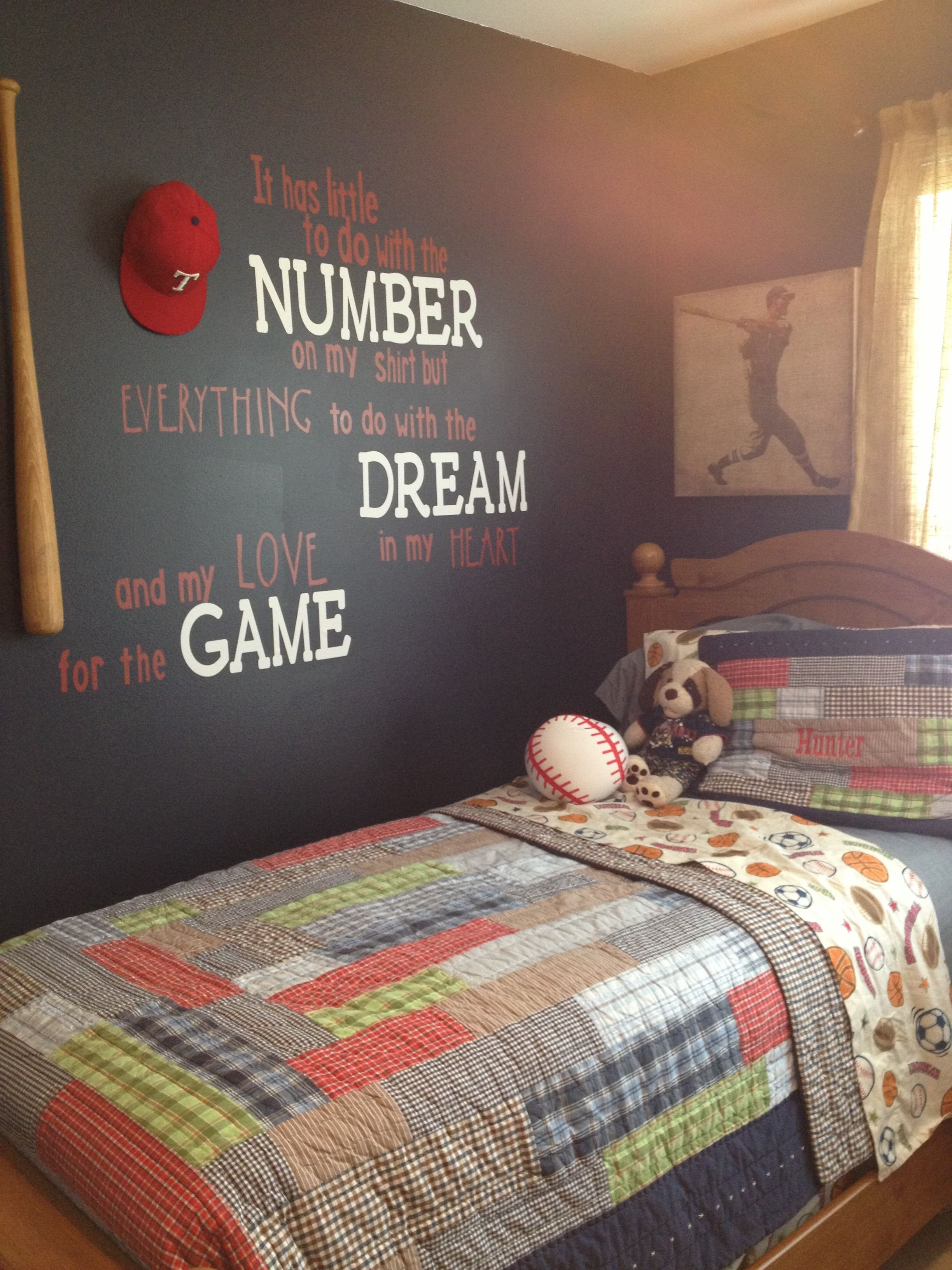 Kids Bedroom for Boy Inspirational Baseball Room