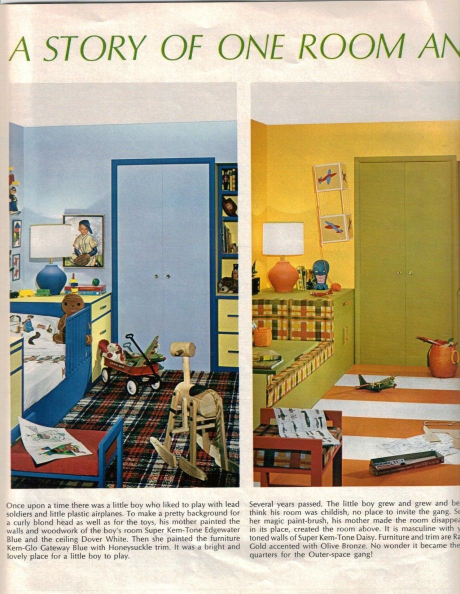Kids Bedroom for Boy Luxury 1950s Boys Room Google Search