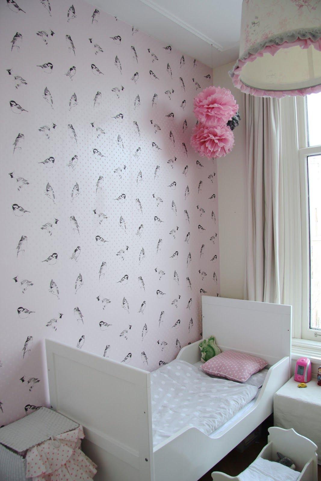 Kids Bedroom for Girls Beautiful Children S Room Bird Wallpaper Bellerose by Esta Via