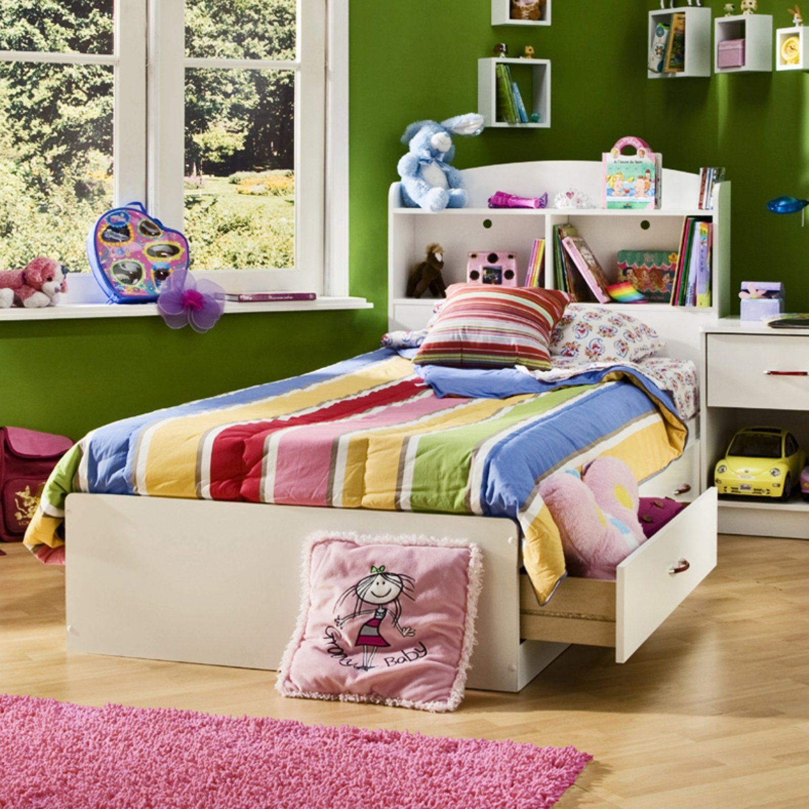 Kids Bedroom Set with Desk Fresh south Shore Logik Twin Bookcase Bed Collection White In