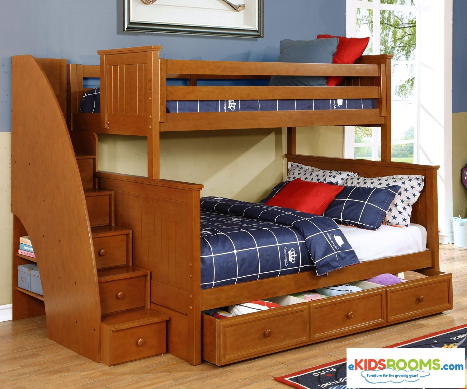 Kids Bunk Bed Bedroom Set Lovely Allen House Chatham Twin Over Full Bunk Bed with Stairs Pecan