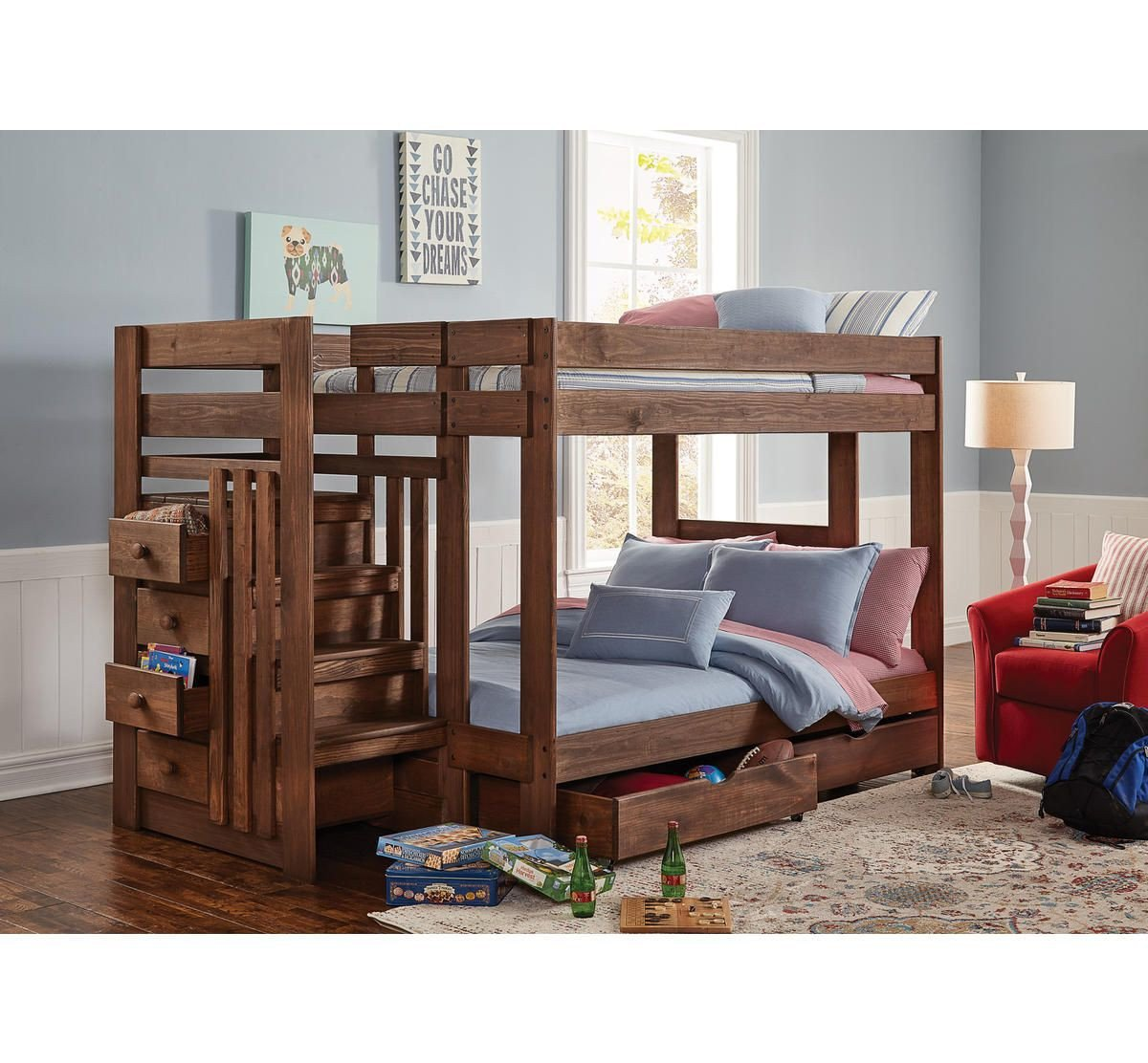 Kids Bunk Bed Bedroom Set Lovely Baylee Full Over Full Stairbed