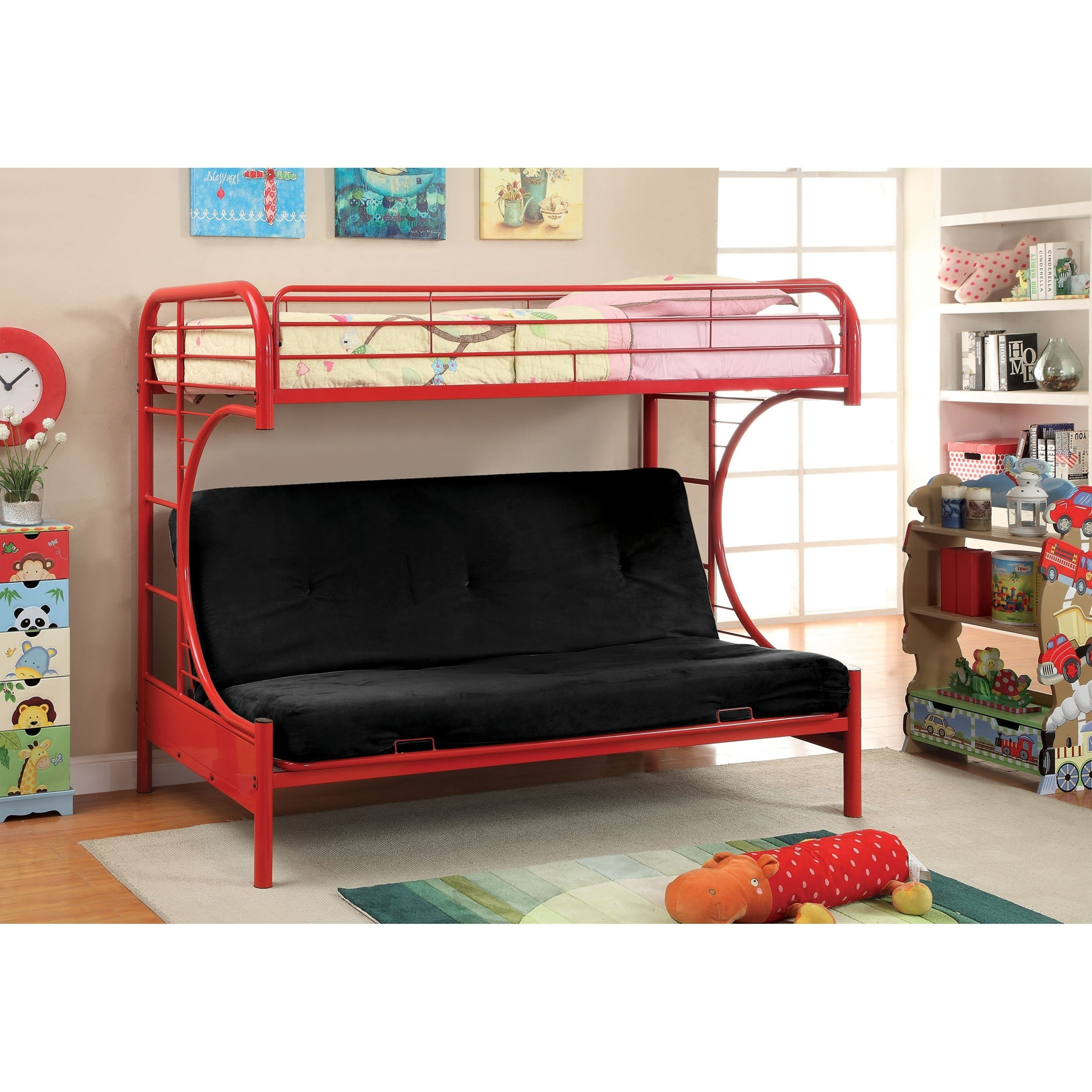 Kids Bunk Bed Bedroom Set Lovely Furniture Of America Hind Transitional Red Twin Futon Metal Bunk Bed