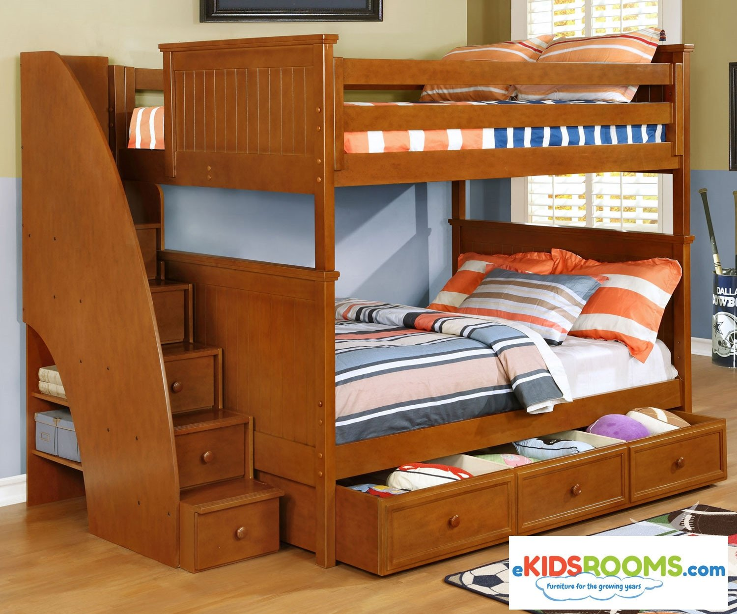 Kids Bunk Bed Bedroom Set Luxury Allen House Chatham Full Over Full Bunk Bed with Stairs Pecan