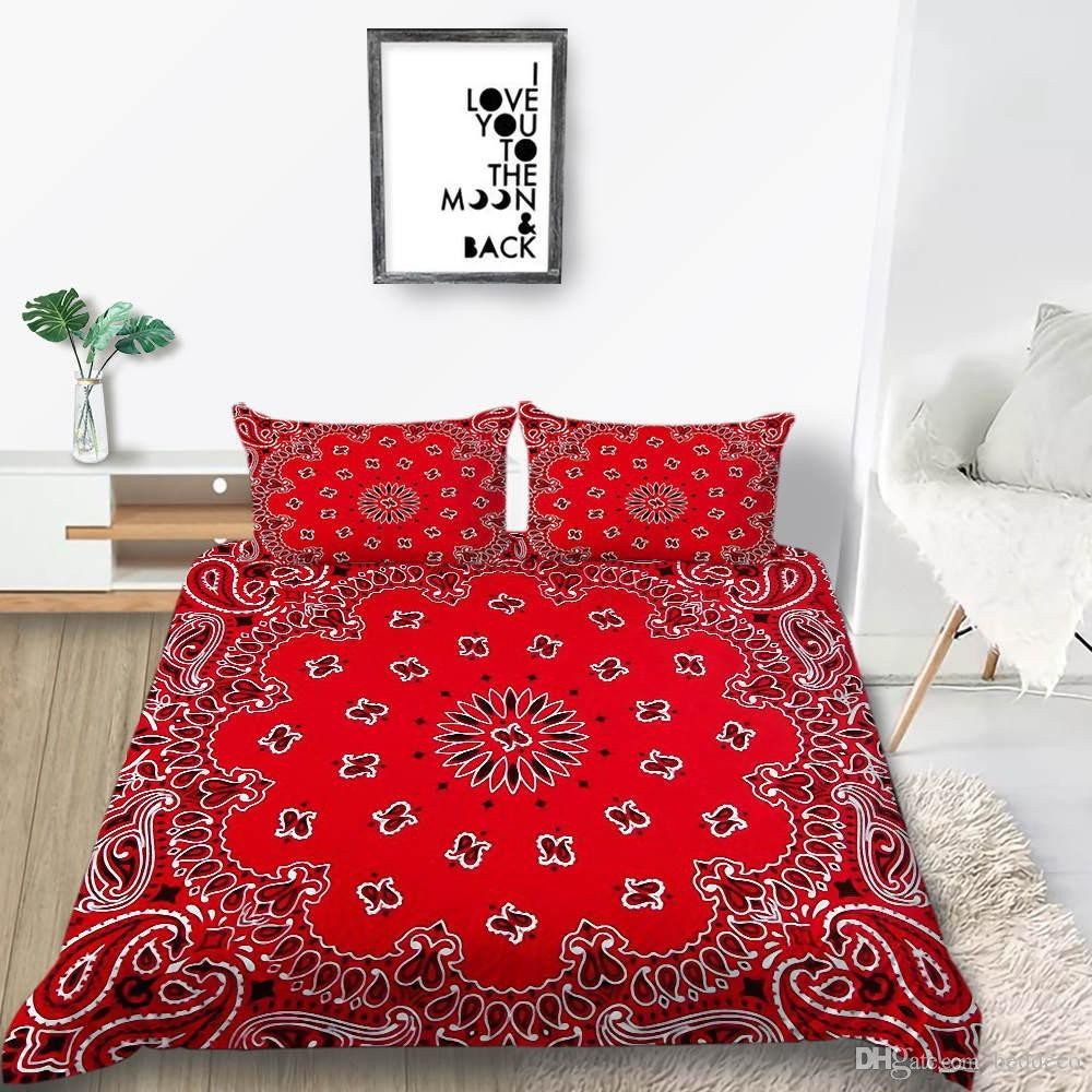 King Bedroom Comforter Set Awesome Floral Bedding Set for Girl Classic Fashionable Red Vintage Duvet Cover King Queen Twin Full Single Double soft Bed Cover with Pillowcase Bedroom