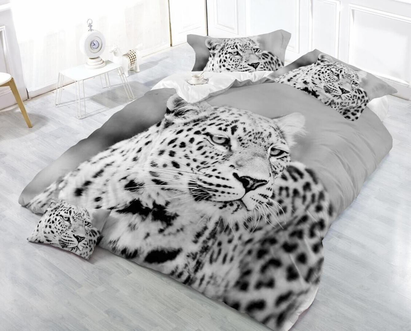 King Bedroom Comforter Set Luxury 3d Leopard Cat Grain Bedding Set forter Duvet Cover Bed Sheet Pillowcases King Size Bed Linen Home Decor Christmas Bedding King forter Blue