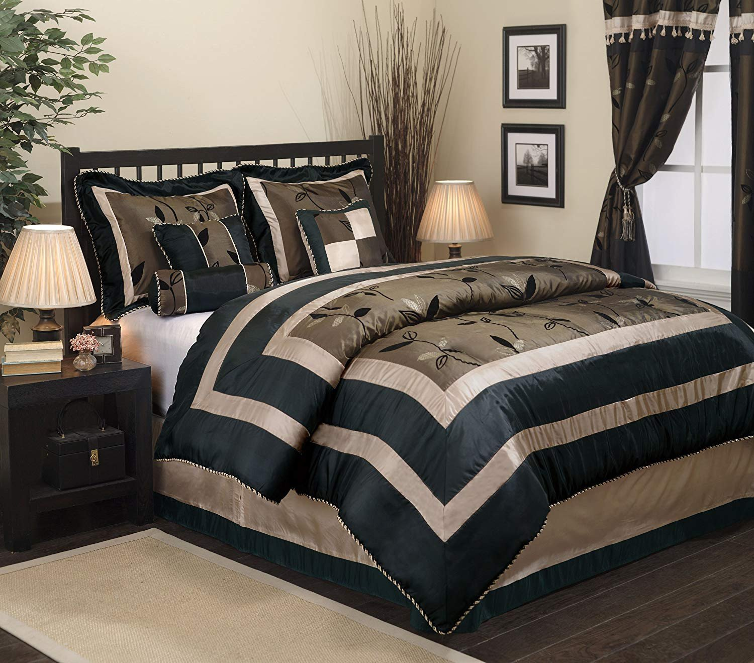 King Bedroom Comforter Set Unique Nanshing Pastora7 Q Pastora Collection Bedroom forter Plete 7 Piece Set Queen Bronze