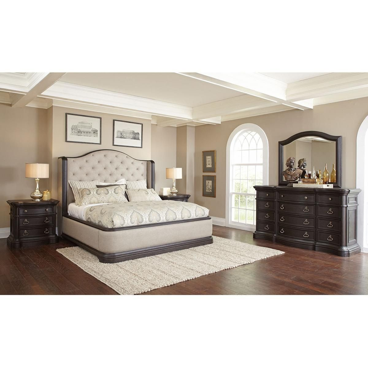King Bedroom Furniture Set Beautiful Nineteen37 Ravena 4 Piece King Bedroom Set In Root Beer
