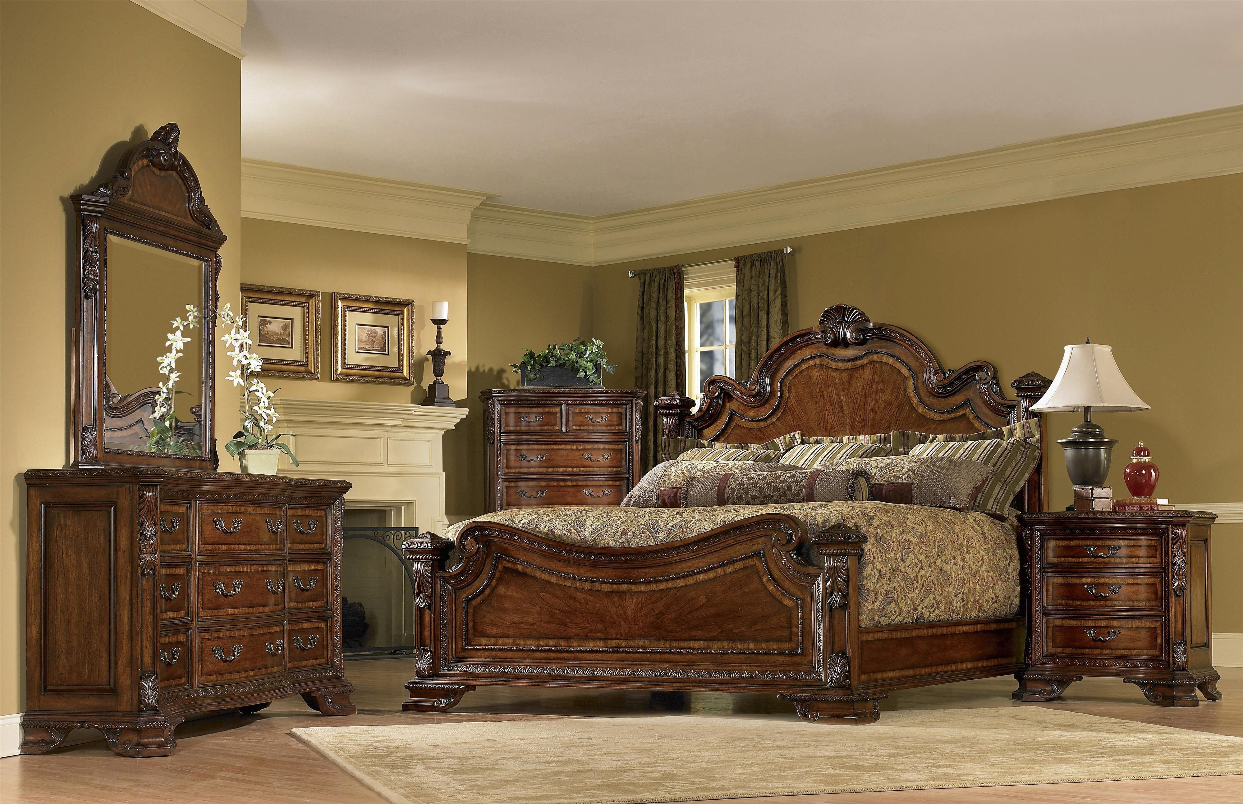King Bedroom Furniture Set Beautiful Old World King Bedroom Group by A R T Furniture Inc