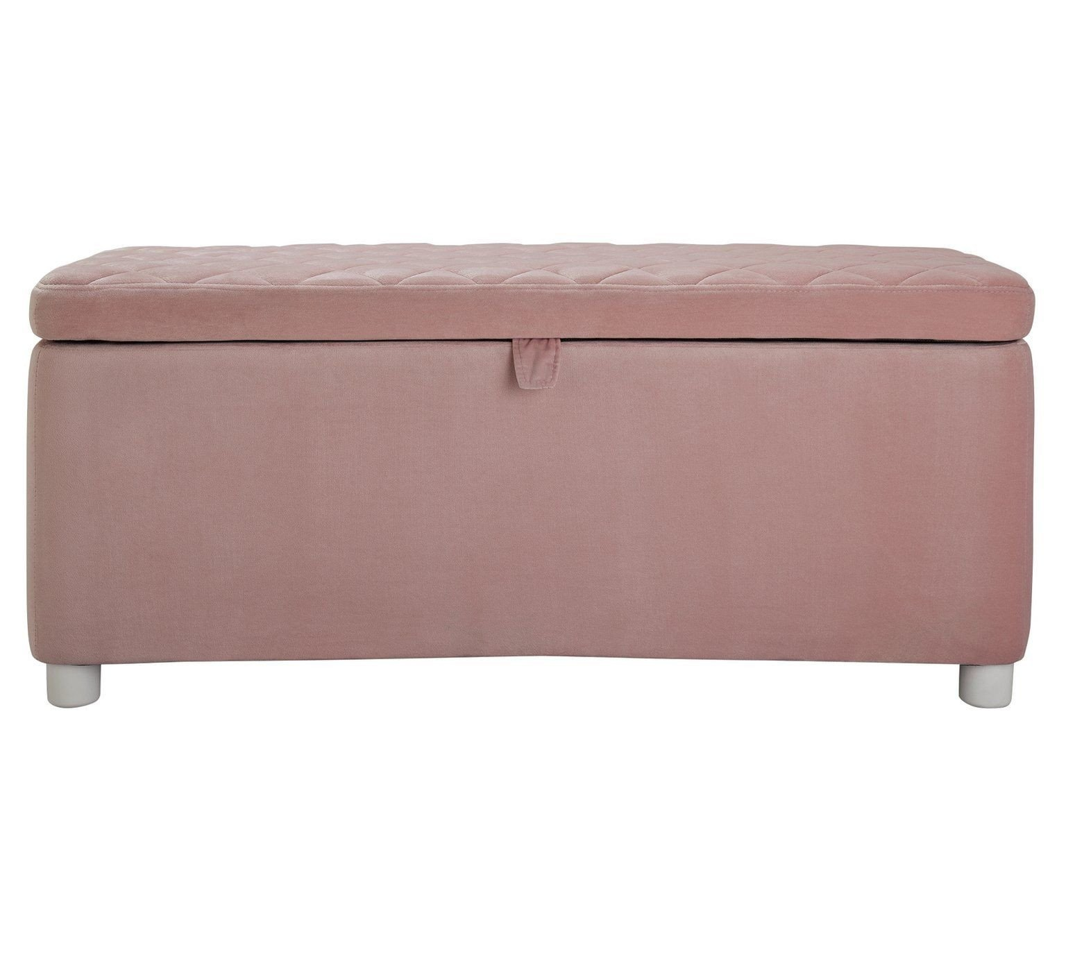 King Size Bedroom Benches Elegant Buy Argos Home Velvet Ottoman Blush Pink