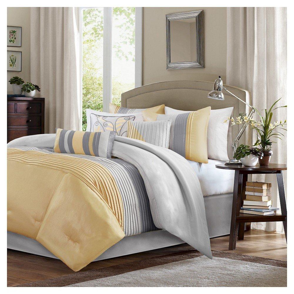 King Size Bedroom Comforter Set Lovely Salem Pleated Colorblock forter Set California King