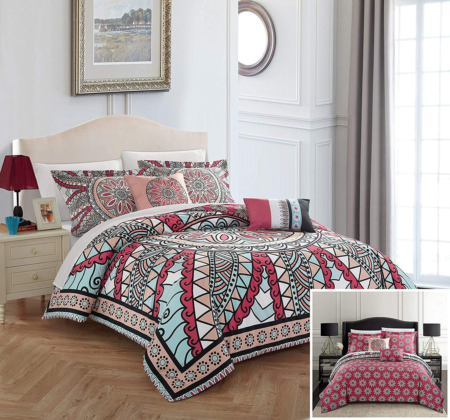 King Size Bedroom Comforter Set New Amazon Chic Home Michal 5 Piece Reversible forter