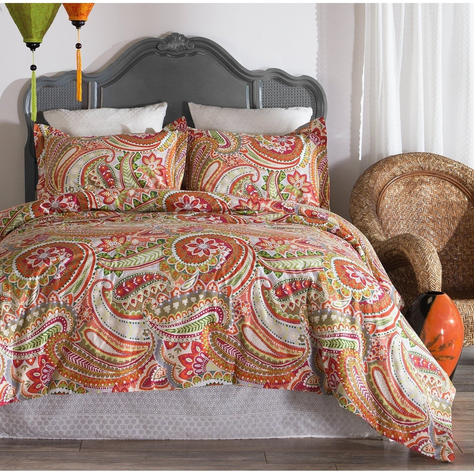 King Size Bedroom Comforter Set New Porch & Den Flora King Size Paisley Printed Cotton forter Set