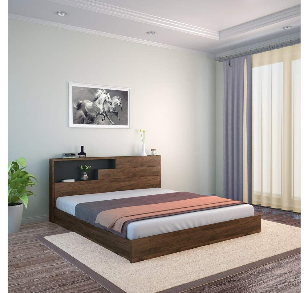 King Size Bedroom Ideas Fresh King Size Engineered Wood Bed with Headboard Storage Pre