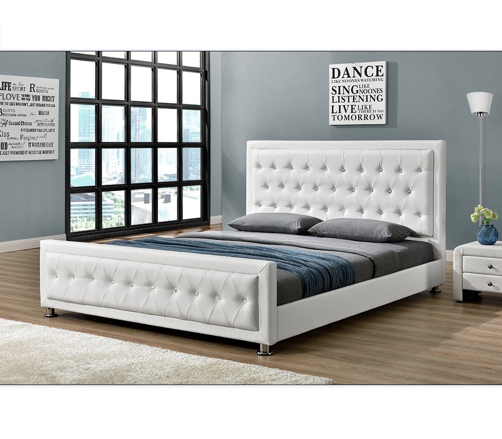 King Size Bedroom Set Cheap Unique Modern Design with button Bedroom Furniture Double King Size Pu Faux Leather Bed 1169 Buy Modern Bed Double Size Pu Leather Bed Product On