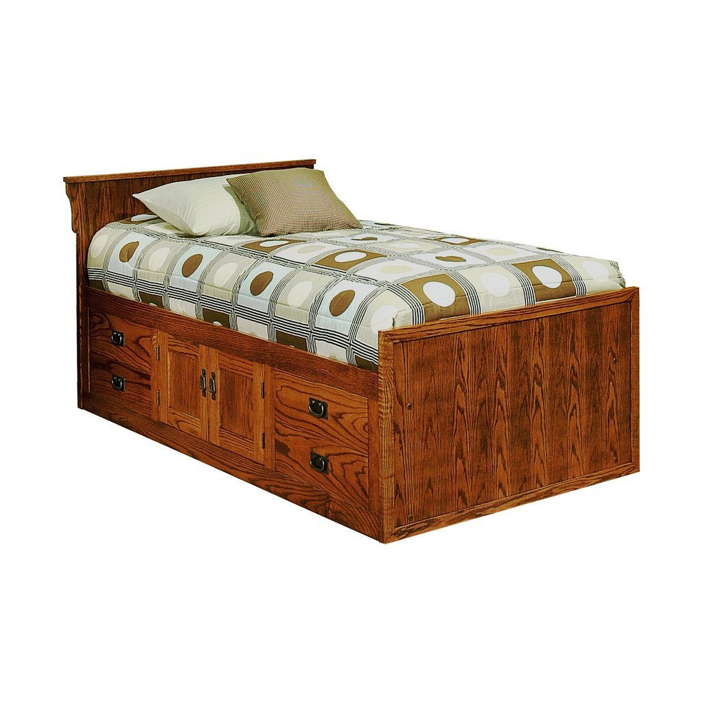 King Size Bedroom Set for Sale Inspirational Od O M284 T Mission Oak Chest Bed with 4 Drawers & 2 Doors and Flat Panel Headboard Twin Size