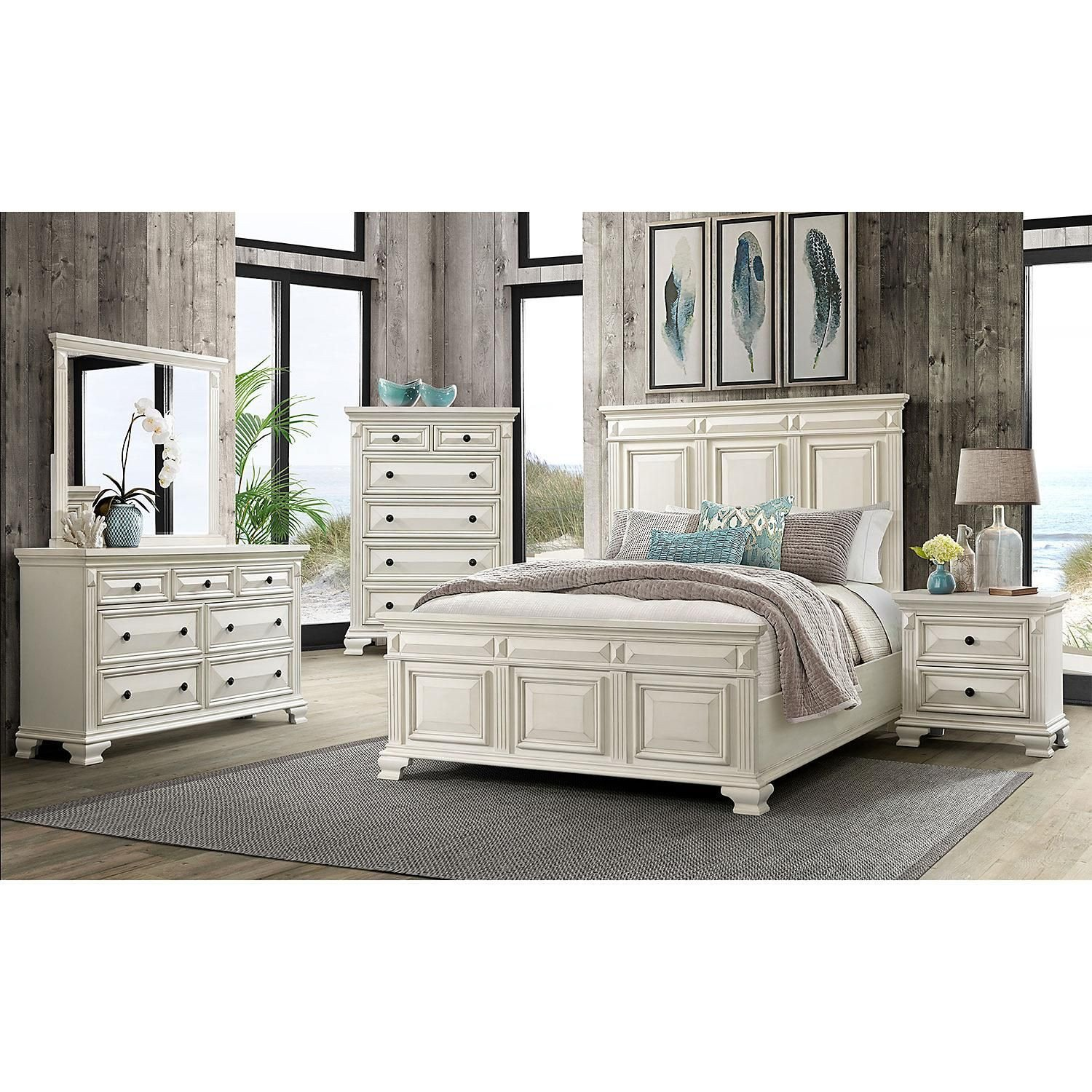 King Size Bedroom Set with Mattress New $1599 00 society Den Trent Panel 6 Piece King Bedroom Set