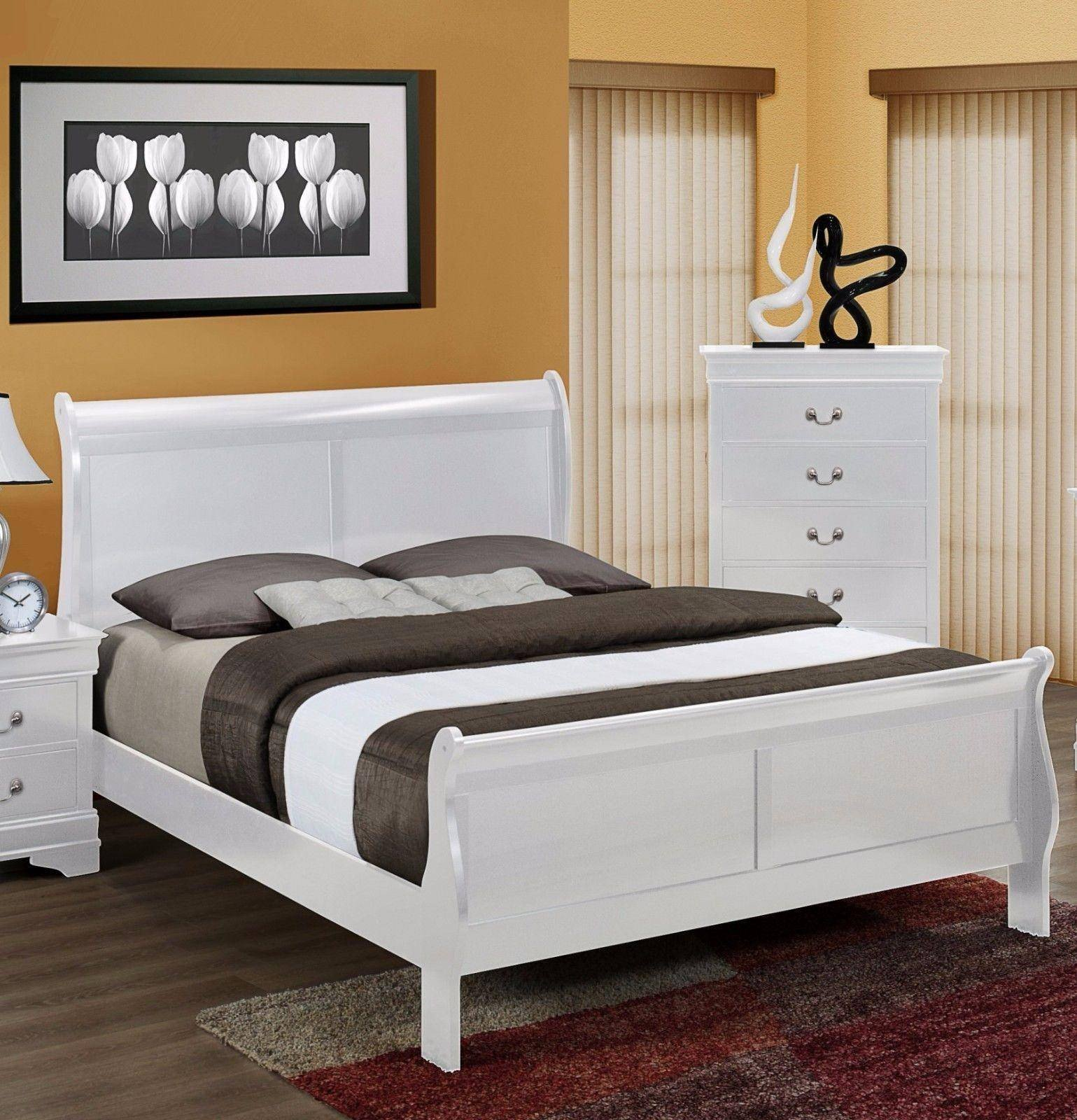 King Size Bedroom Suit Awesome Crown Mark B3600 Louis Philip Contemporary White Finish King