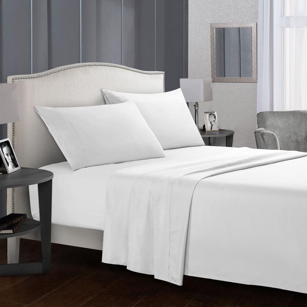 King Size Bedroom Suit Fresh 2019 solid Color Bed Sheet Sets Flat Sheet Fitted Sheet Case Queen King Size soft fortable Bedding Set From sophine08 $48 19
