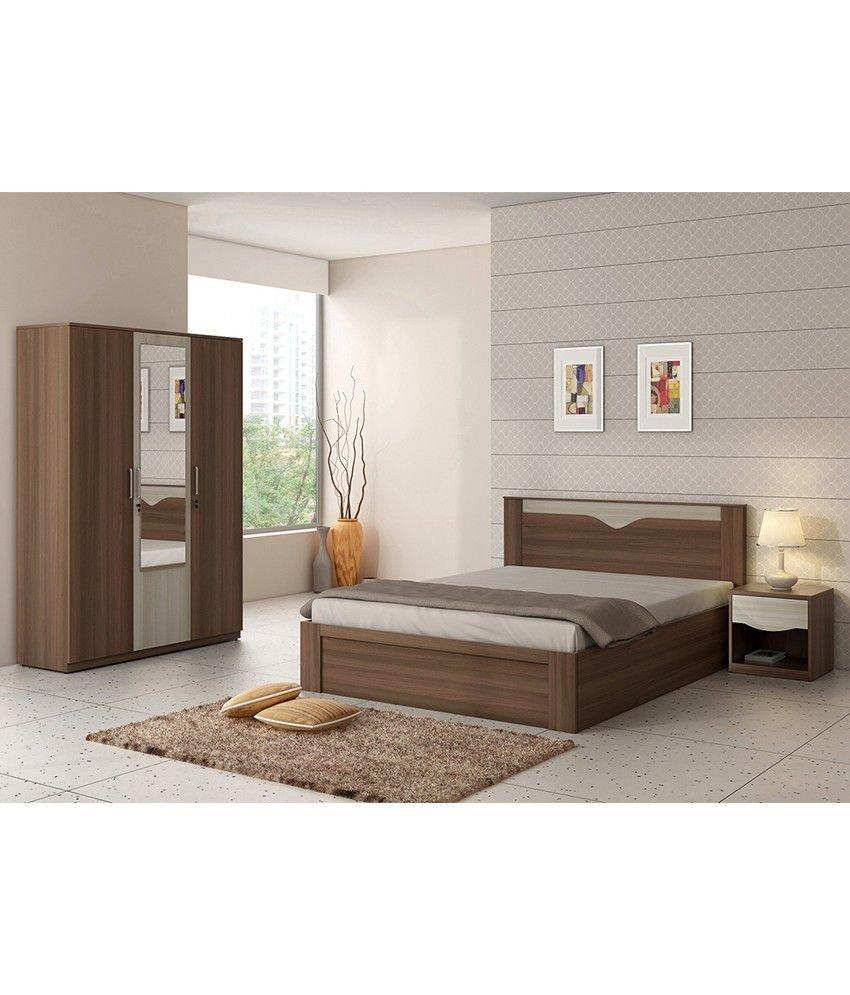 King Size Bedroom Suit New Spacewood Crescent Bed Room Set King Size Bed 3 Door