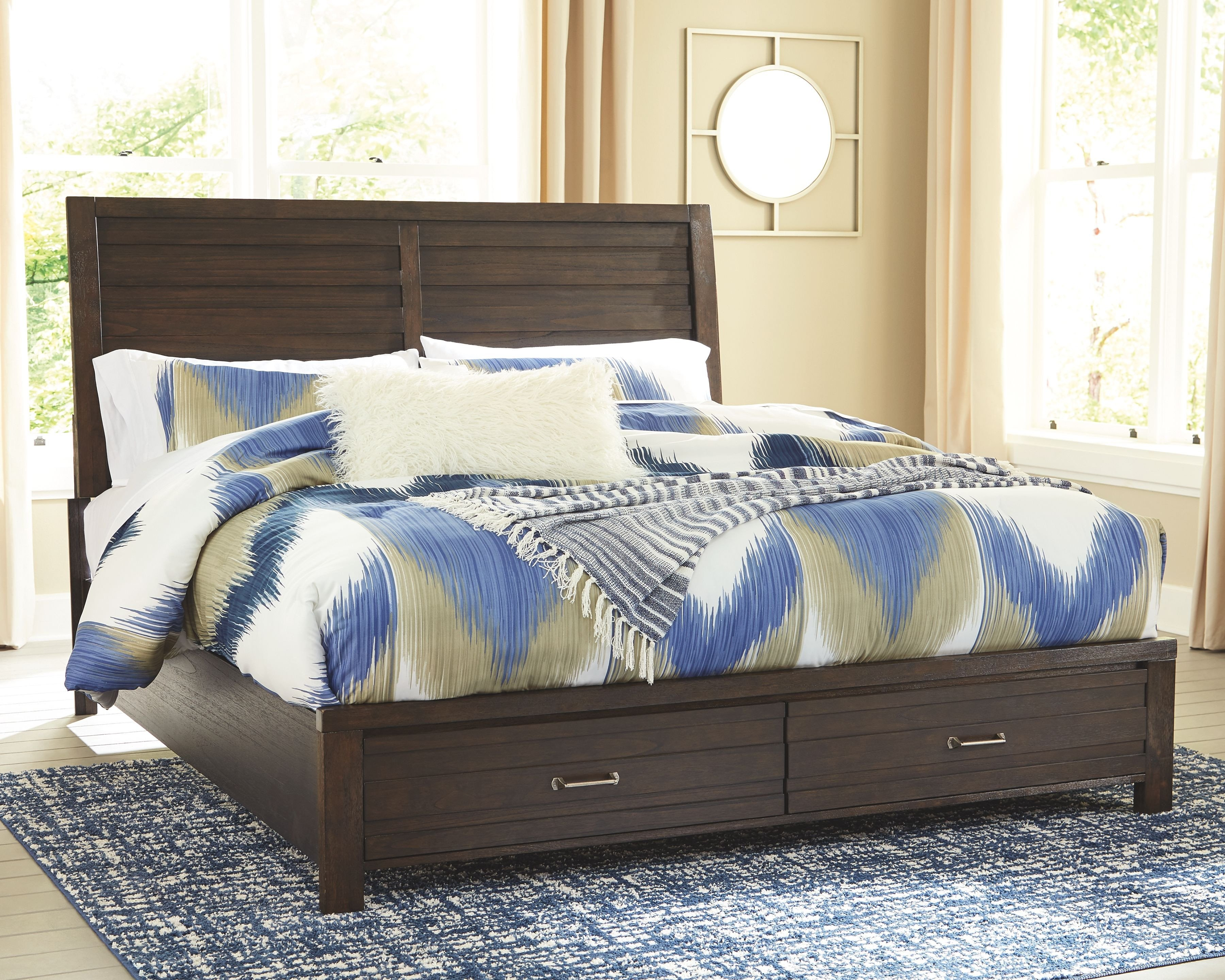 King Size Bedroom Suites Inspirational Darbry California King Panel Bed with Storage Brown