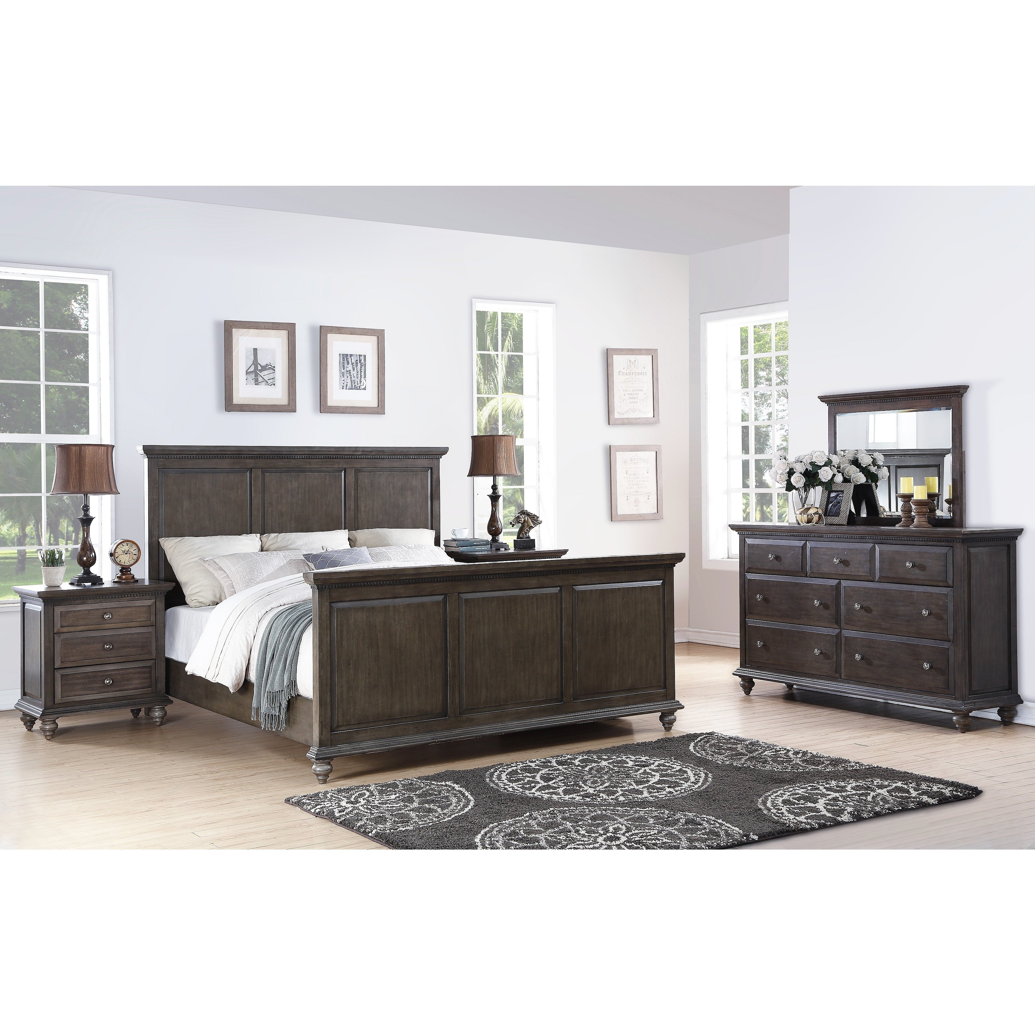 King Size Canopy Bedroom Set New Abbyson Marseilles City Grey 5 Piece Bedroom Set