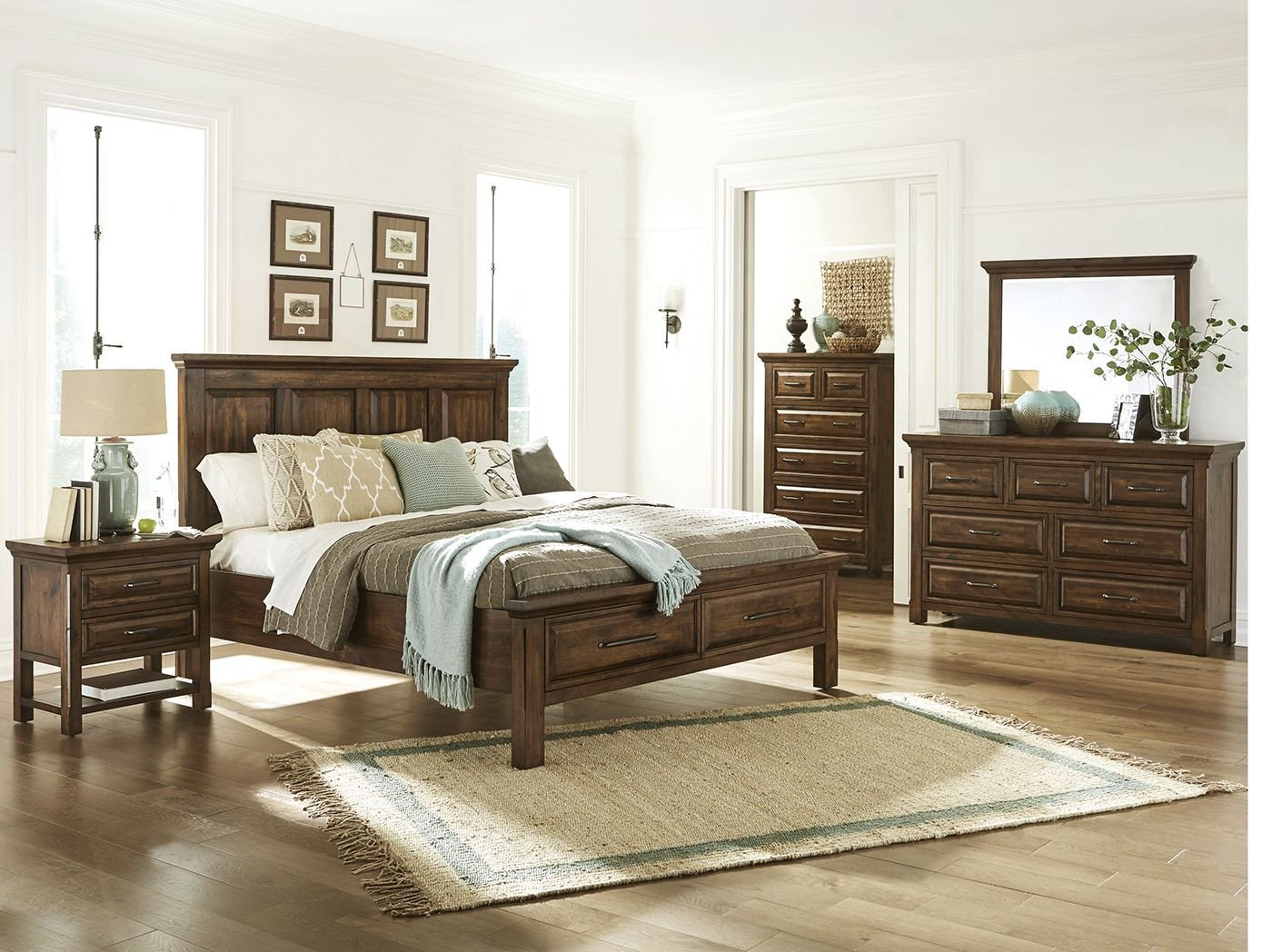King Size Oak Bedroom Set Unique Hillcrest King Panel Storage Bed