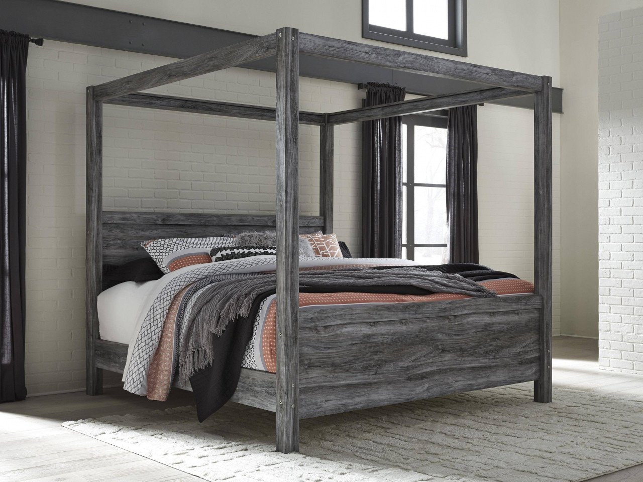 King Size Poster Bedroom Set Elegant Iron Canopy Bed Frame — Procura Home Blog