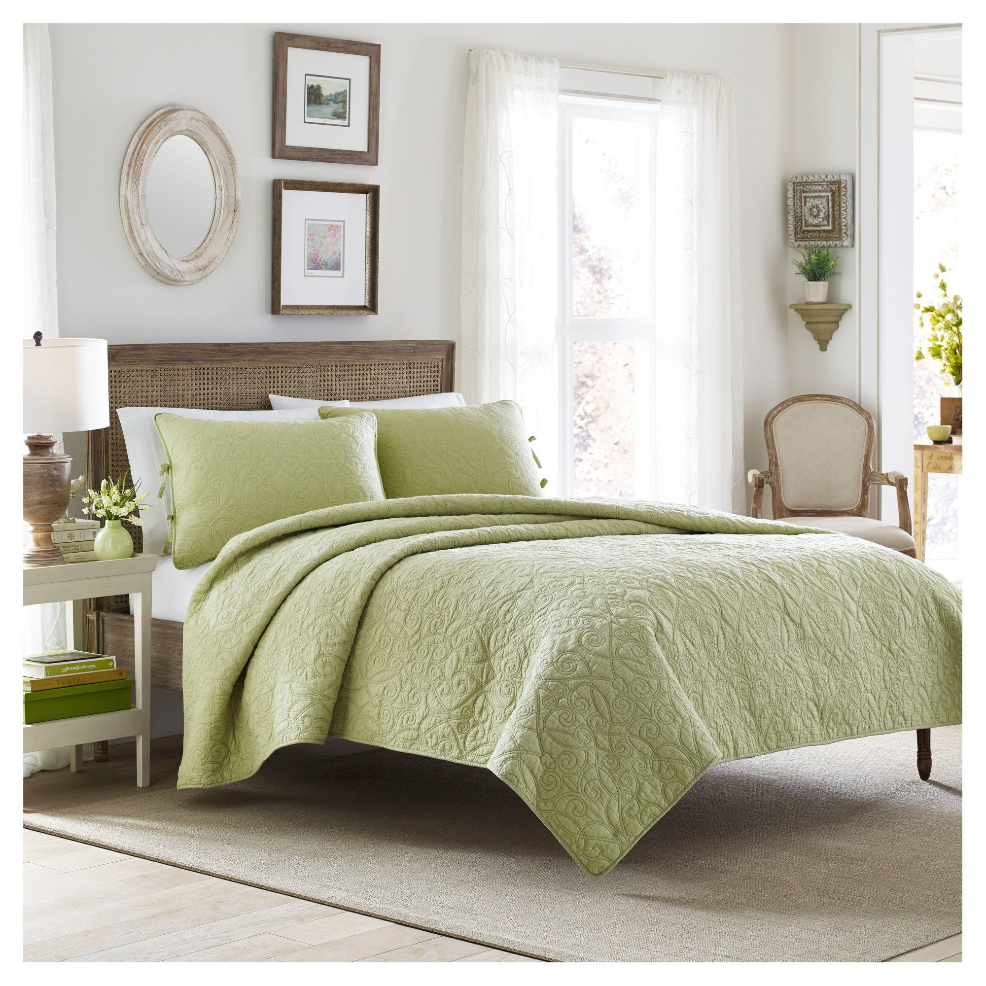 Laura ashley Bedroom Set Best Of Felicity Quilt and Sham Set Full Queen Light Green Laura