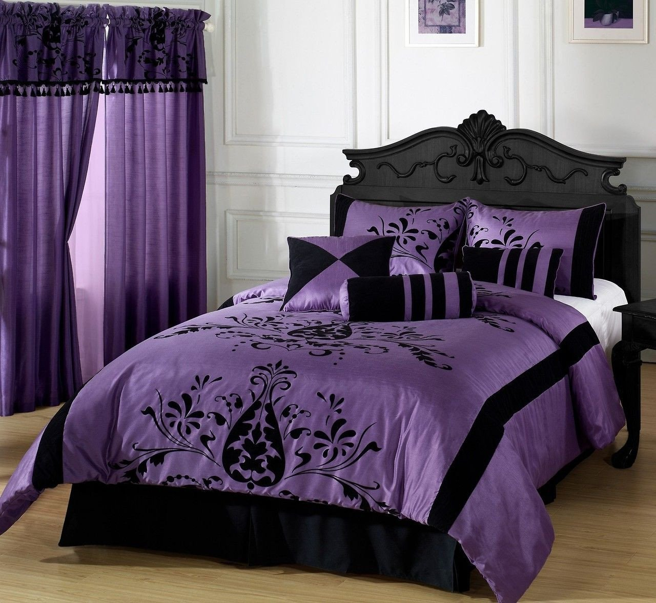 Lavender and Gray Bedroom Beautiful Goth Gothic Gothic Decor Purple and Black E Headboard