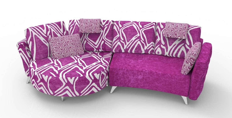 Lavender and Gray Bedroom Fresh soflex Valentina Contemporary Lilac Fabric Modular sofa
