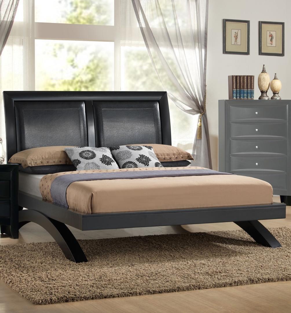 Leather Headboard Bedroom Set Awesome Myco Furniture Em1600k