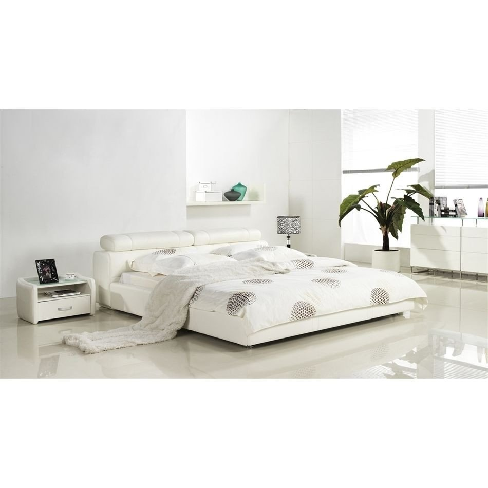 Leather Headboard Bedroom Set Beautiful Cannes Collection White Leather Headboard with Eco Leather
