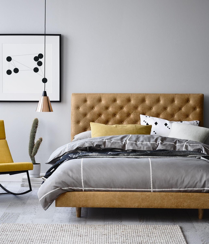Leather Headboard Bedroom Set Luxury Gallery