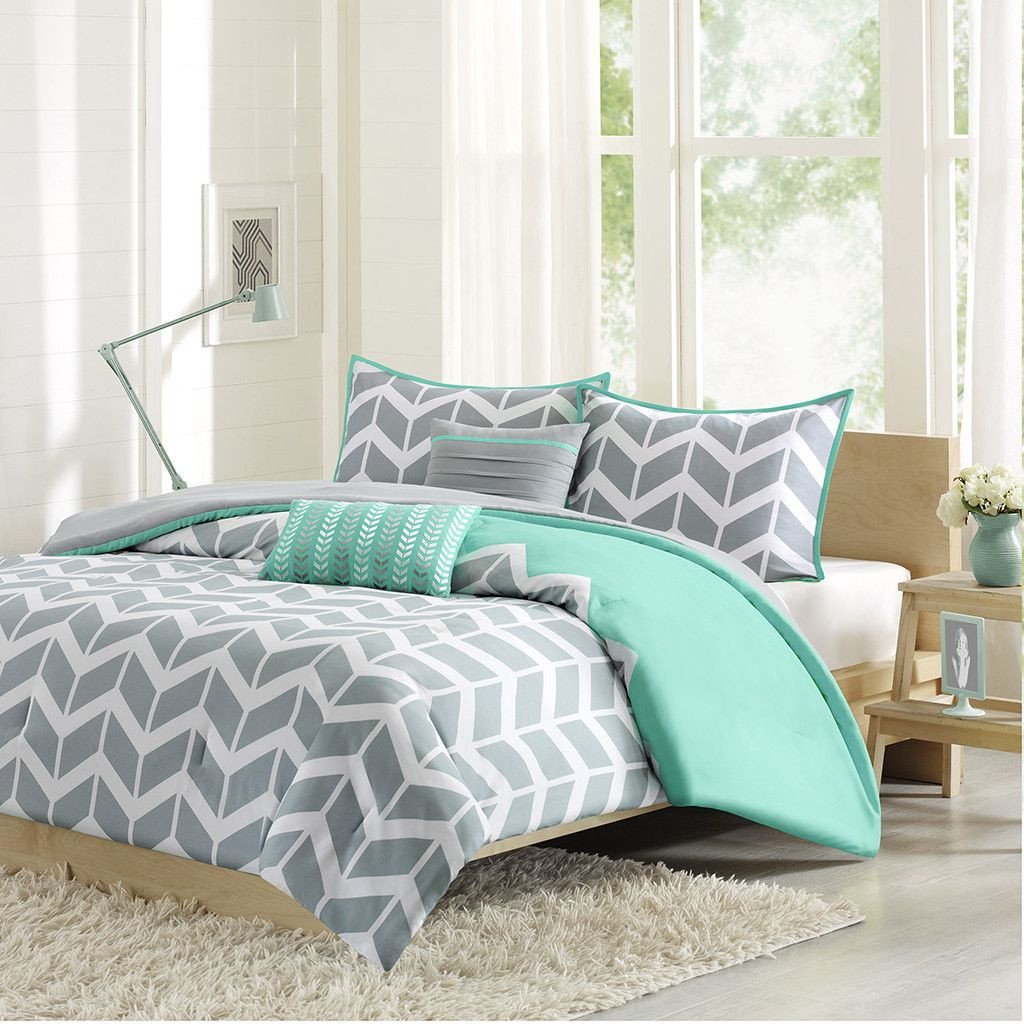 Light Blue Bedroom Set Fresh Intelligent Design Nadia forter Set Blue & Grey Chevron