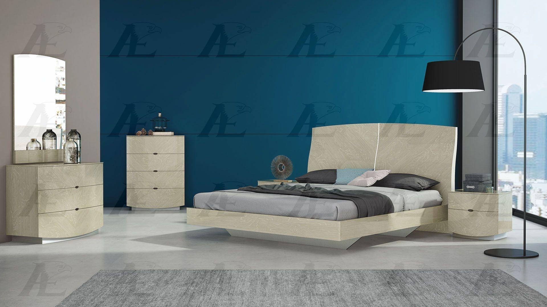 Light Blue Bedroom Set Inspirational Light Walnut Finish King Size Bed American Eagle P113 Bed Ek