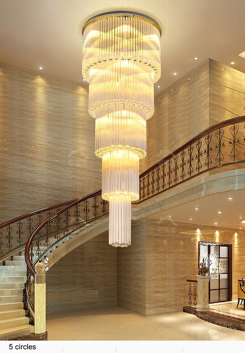 Light Fixtures for Girl Bedroom Luxury Led Modern K9 Crystal Chandeliers Lights Fixture American Crystal Chandelier American Villa Hotel Big Long Stair Way Home Indoor Lighting Paper