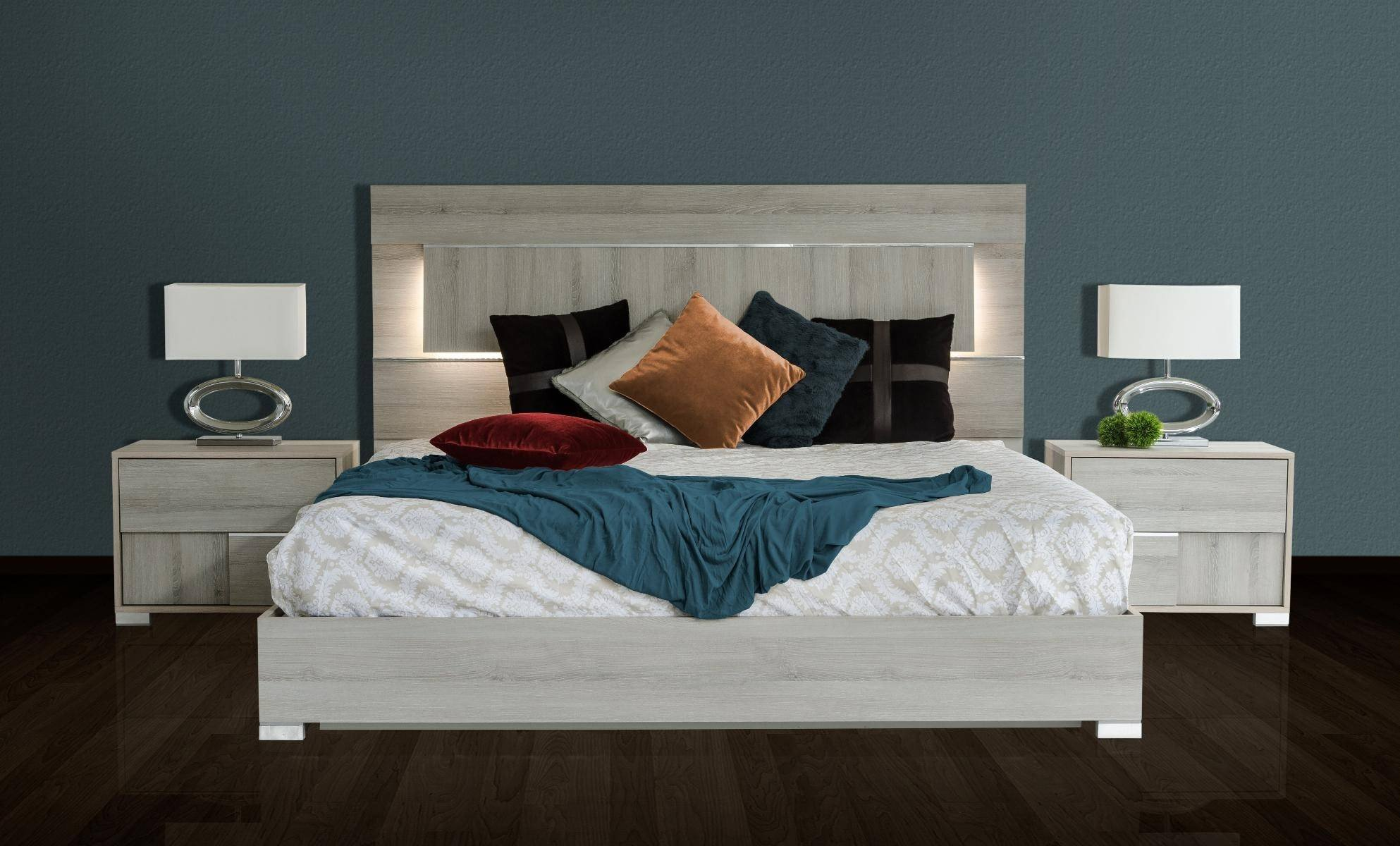 Light Wood Bedroom Furniture Fresh Vig Modrest Ethan Modern Grey Veneer Finish Led Lighted