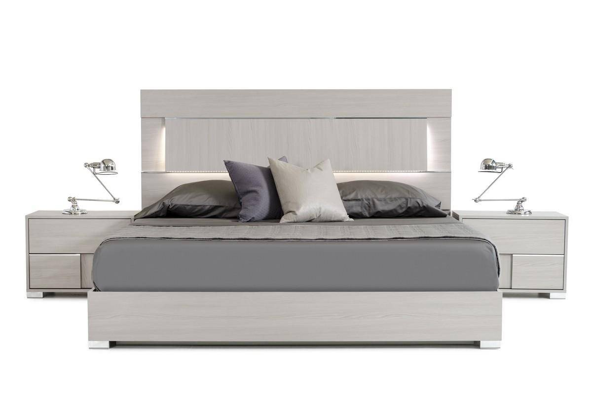 Lighted Headboard Bedroom Set Awesome Vig Modrest Ethan Grey Veneer Headboard W Led Queen Bedroom