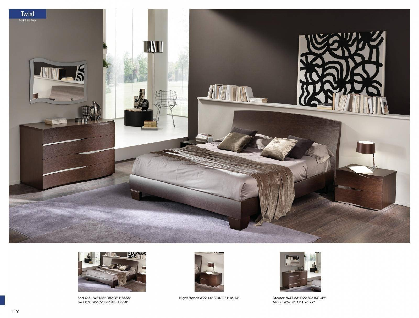 Lighted Headboard Bedroom Set Lovely Esf Twist Wenge Waved Headboard Queen Bedroom Set 5