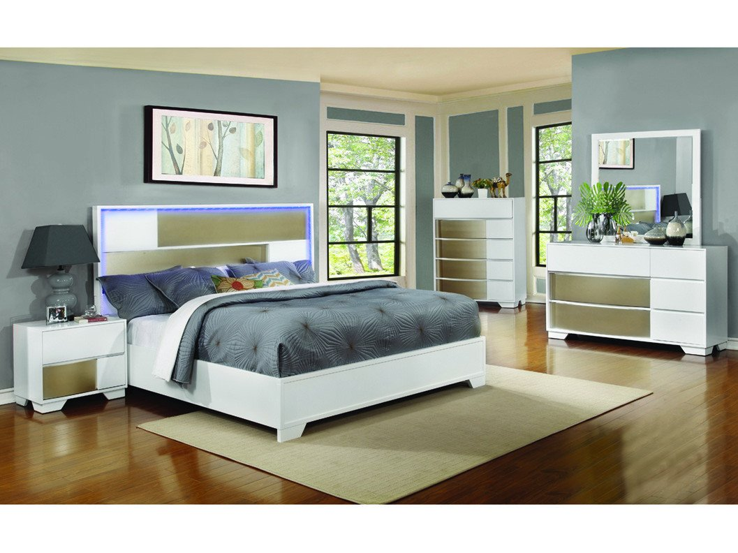 Lighted Headboard Bedroom Set Lovely Havering Queen 4 Pcs Set