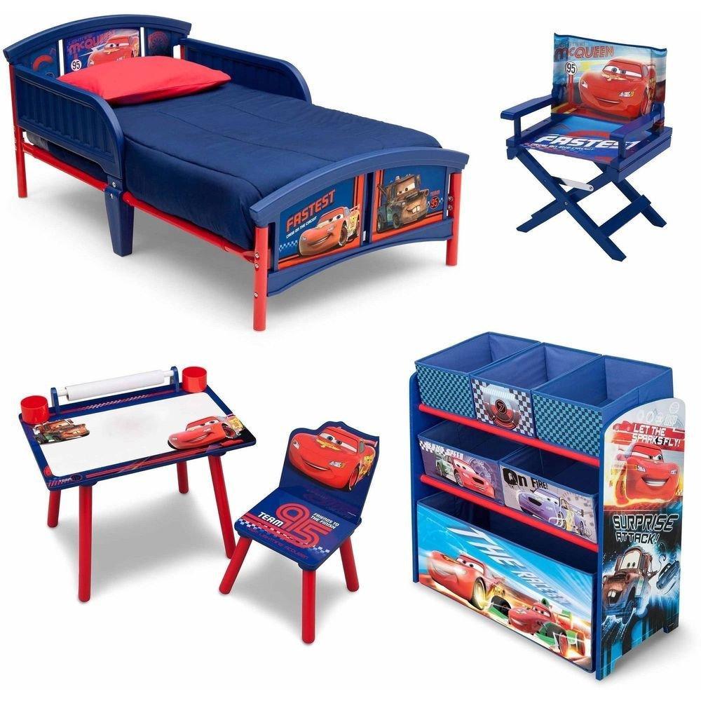Lightning Mcqueen Bedroom Set Beautiful toddler Bedroom Set Boys Cars Furniture Bed toy Storage Art