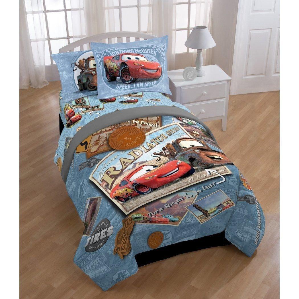 Lightning Mcqueen Bedroom Set Elegant Kids Blue Brown toe Mater forter Twin Set Red Lightning