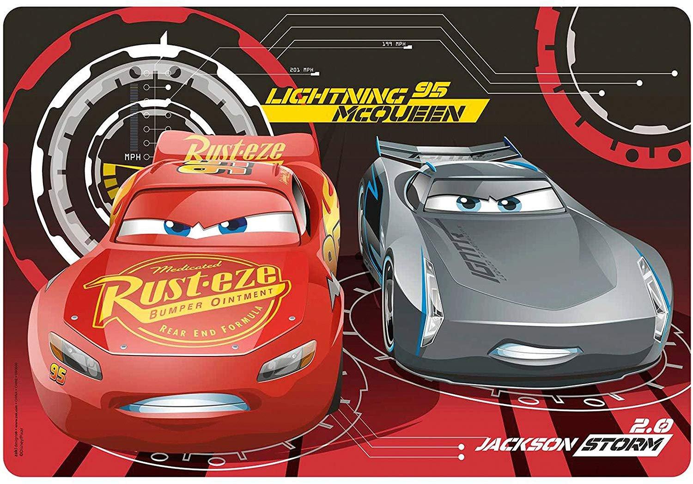 "Lightning Mcqueen Bedroom Set Inspirational Disney Pixar ""cars 3"" Kids Meal Time Plastic Placemat Featuring Lightning Mcqueen & Jackson Storm Makes Clean Up A Breeze"