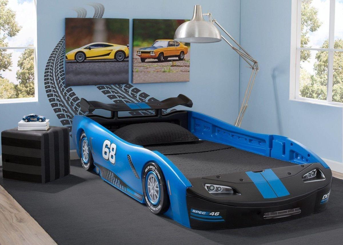Lightning Mcqueen Bedroom Set Inspirational Turbo Race Car Twin Bed Blue In 2019