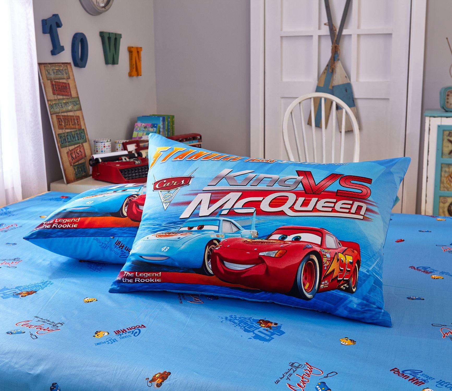 Blue Color Disney Cars Bedding Set 8