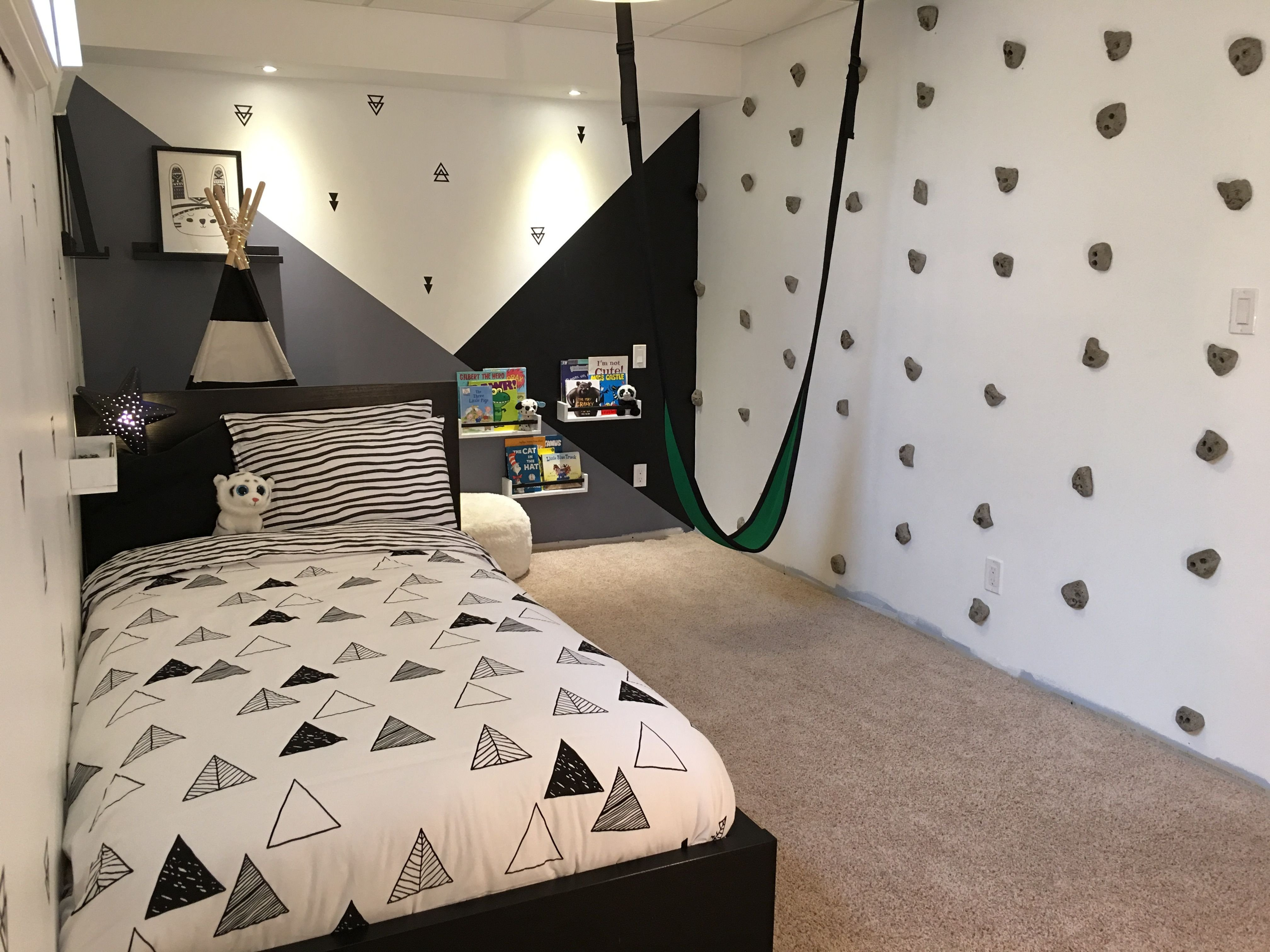 Little Boy Bedroom Set Awesome Rock Wall In Bedroom Climbing Wall