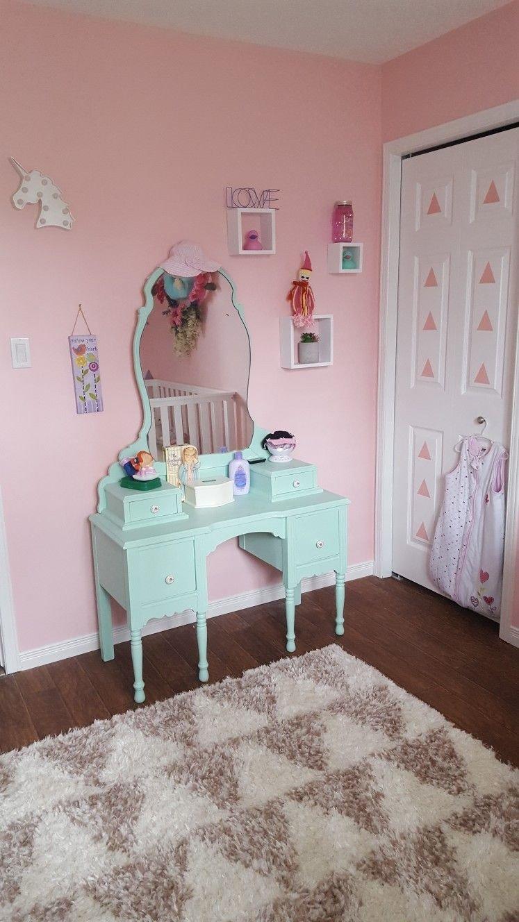 Little Girl Bedroom Decor Elegant Pink and Mint Green Little Girls Room In 2020