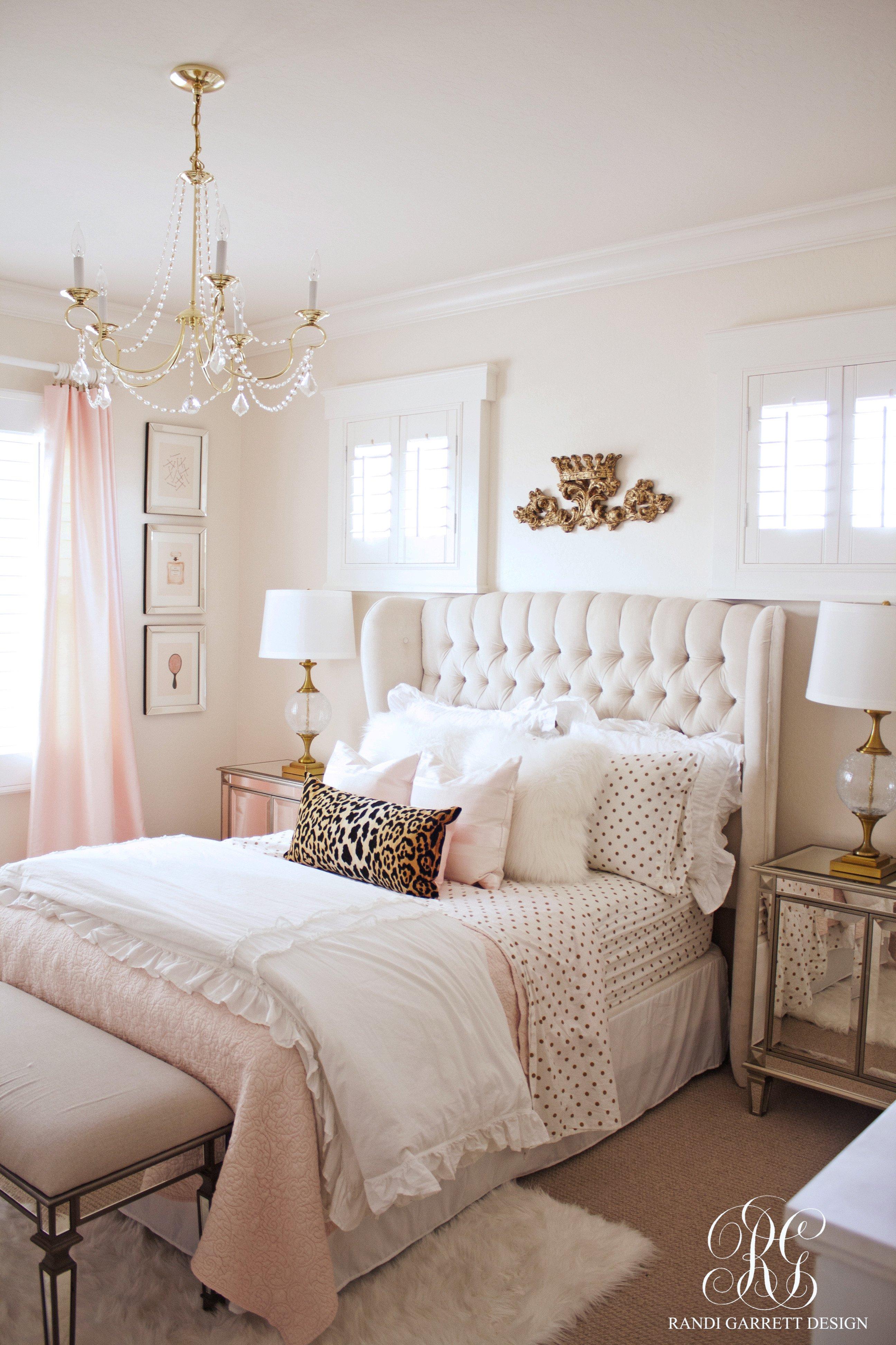 Little Girl Chandelier Bedroom Elegant Pink and Gold Girl S Bedroom Makeover Randi Garrett Design
