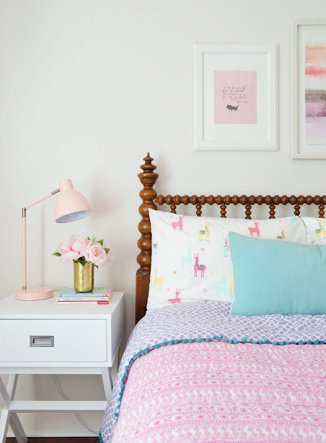 Little Girls Bedroom Ideas Lovely Girls Bedroom Tar Sidetable Pink Bedding